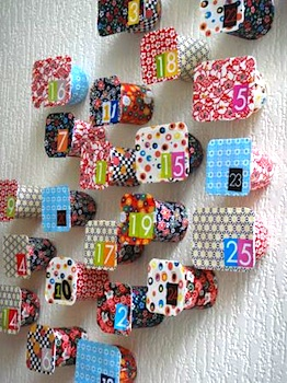 35 great homemade advent calendar ideas things to make and do homemade advent calendar ideas yogurt cup punch through advent calendar for kids solutioingenieria Gallery