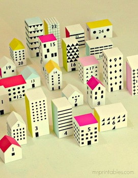 homemade advent calendar ideas free printable advent calendar little town and houses