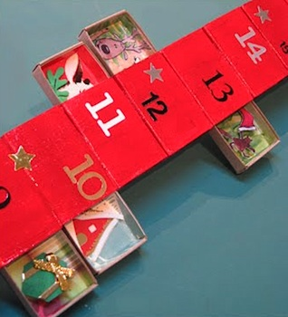 homemade advent calendar ideas vertical matchbox advent calendar