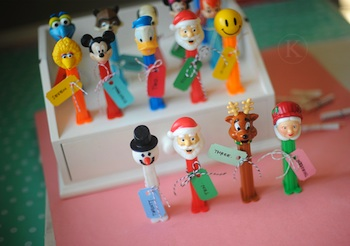 Pez collection advent calendar idea