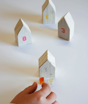 little wooden houses advent calendar