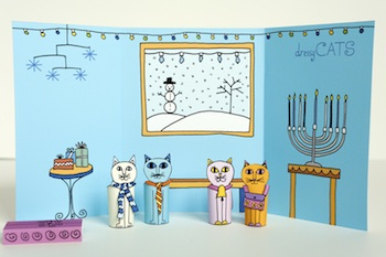 Made by Joel printable playscape for hanukkah