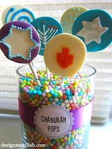 Design Megillah chanukah lollipops