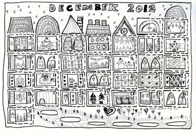 Free Advent Calendar to Color