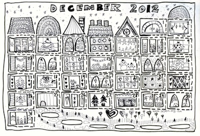 Se7en free printable advent calendar to color