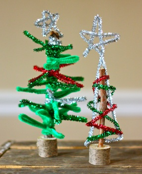 chenille stem christmas trees
