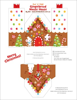 We Love to Illustrate free printable gingerbread houses