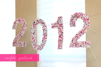 diy confetti garland for new year's eve