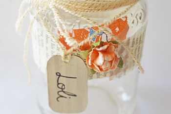decorated memory jar for saving memories
