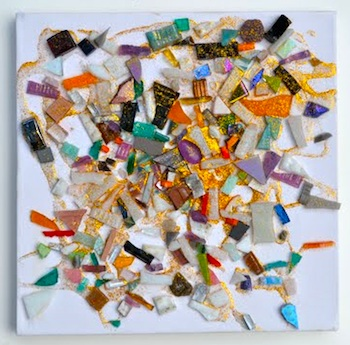 mosaic tile scatter paintings