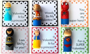 valentine peg doll crafts princess super hero