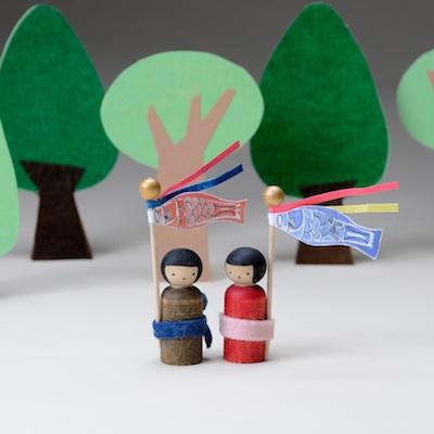 Making Peg Dolls Japanese Children's Day