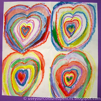 heart art lesson