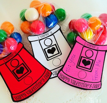 living with three moon babies gumball machine valentines - Valentine Card Ideas For Kids