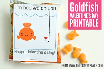 One Crafty Place valentine goldfish printable