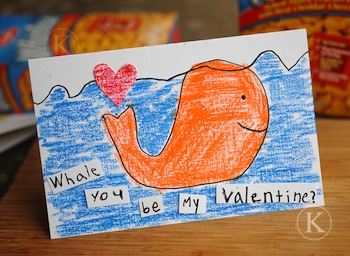 Katherine Marie whale you be my valentine card