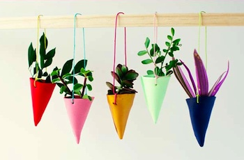 Frankie diy clay hanging plant holders