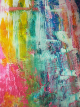 Léon, pas sur les murs! color scraping art