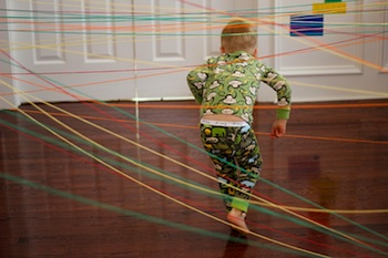 Toddler Approved! rainbow string activity