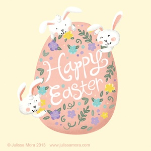 We Love to Illustrate bunny love