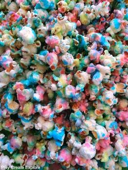 edible popcorn painting