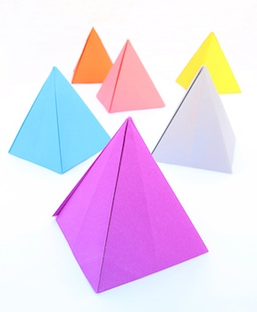 passover craft origami pyramid
