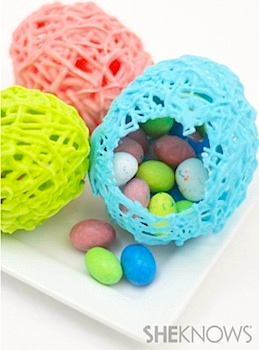 easy hollow chocolate easter eggs