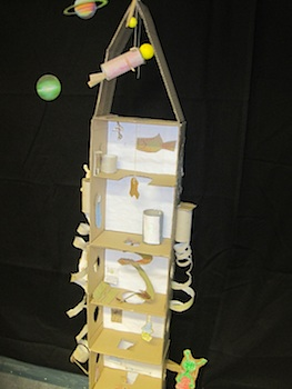 cardboard box craft rocket