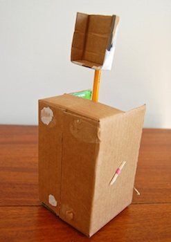 cardboard box craft catapult