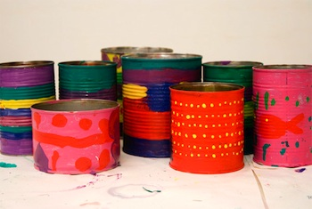 tin can craft painted tin can