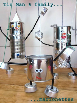 tin can craft  tin can marionette