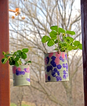 tin can craft tin can strawberry planter