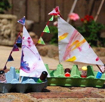 egg carton craft for kids egg carton boat