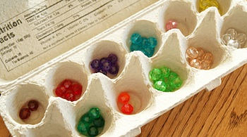 egg carton craft for kids sorting activities