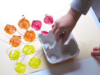 egg carton craft for kids egg carton stampers
