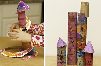 toilet paper roll craft doll slide and castle