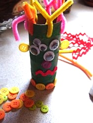 toilet paper roll craft monster craft