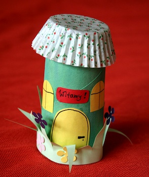 toilet paper roll craft spring house