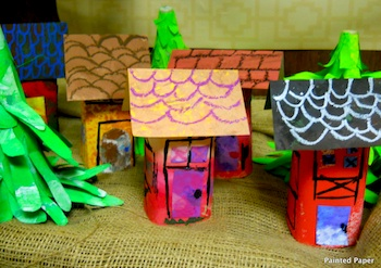recycled plastic bottle woodland fairy homes
