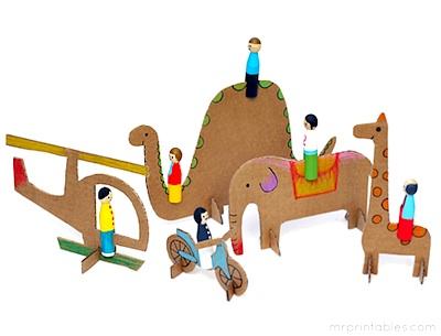 cardboard crafts cardboard toys for peg dolls