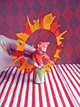 craft papier mache circus animals