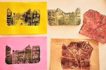 printing with styrofoam diy art for kids