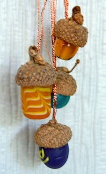 Made By Joey glass bead acorns