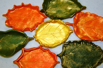ArtteaJannell gilded clay leaves
