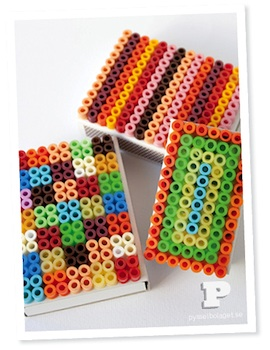 Pysselbolaget hama perler bead craft matchboxes