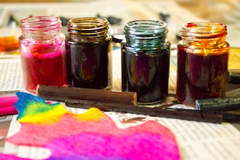 Crafting A Green World homemade liquid watercolors from old markers