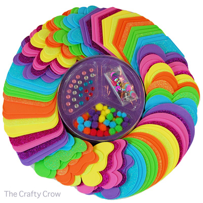 The Crafty Crow craft foam book foamies party platter