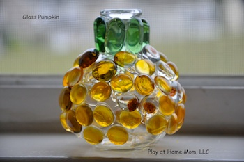 Play At Home Mom glass pumpkin