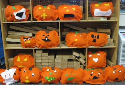 Sewing School jack o'lantern softies
