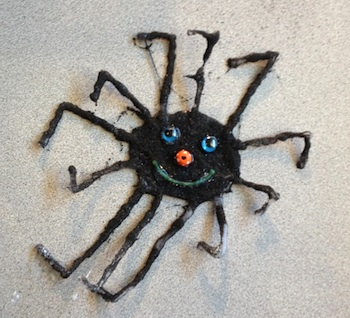Play At Home Mom glue spiders